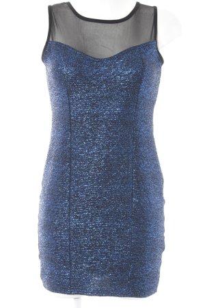 Melrose Minikleid schwarz-blau Glitzer-Optik
