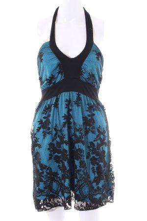 Melrose Neckholderkleid blau-schwarz Elegant