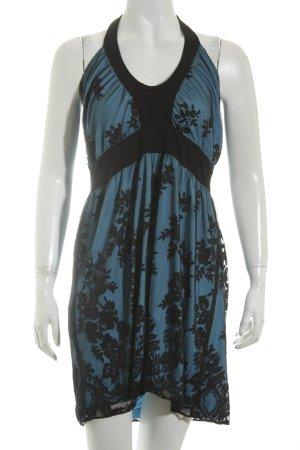 Melrose Neckholderkleid hellblau-schwarz Elegant