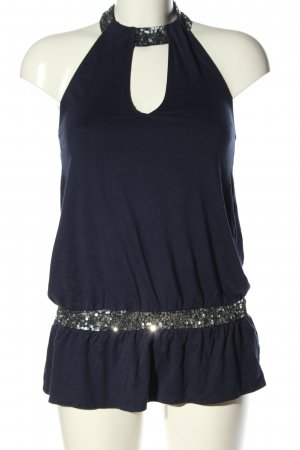 Melrose Neckholdertop blau Casual-Look