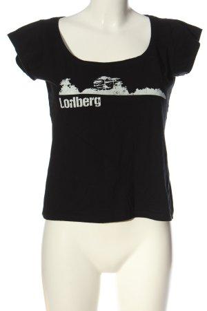 Melrose Print-Shirt schwarz-weiß Motivdruck Casual-Look