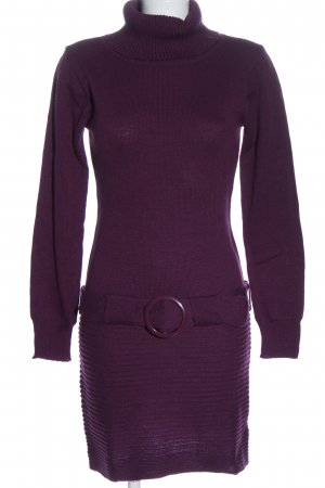 Melrose Sweater Dress lilac casual look