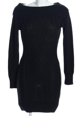 Melrose Vestido tipo jersey negro estampado gráfico look casual