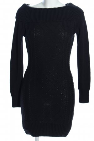 Melrose Sweater Dress black graphic pattern casual look