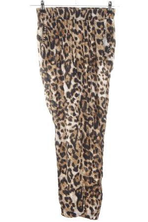 Melrose Bloomers brown-cream animal pattern casual look