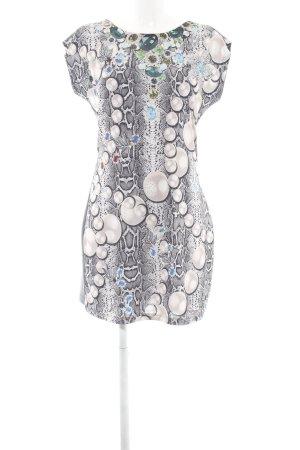 Melrose Robe tube gris clair motif animal style extravagant