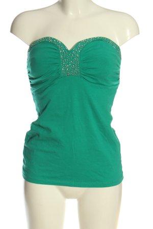 Melrose Off the shoulder top groen casual uitstraling