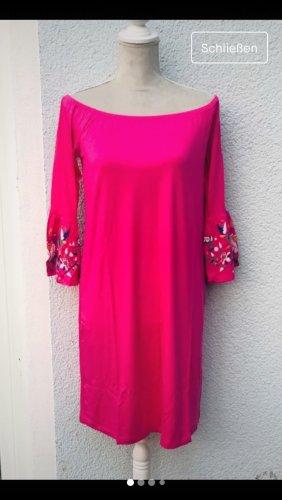 Melrose Sommer Kleid pink gr. 34 mit Volant Ärmel