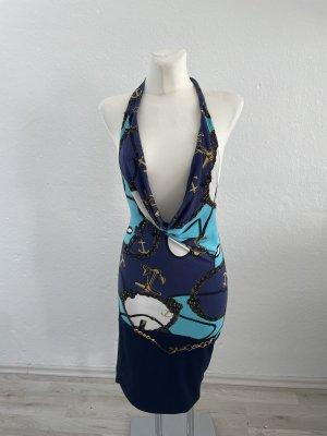 Melrose Sommerkleid Blau 36 Neckholder Kleid
