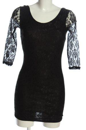 Melrose Spitzenkleid schwarz Casual-Look