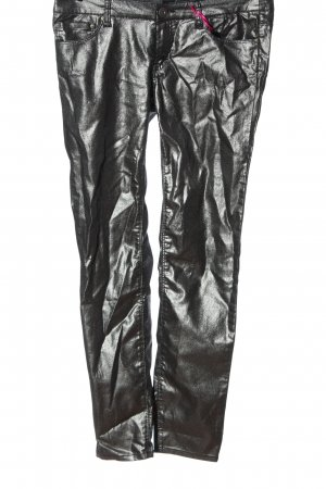 Melrose Pantalone jersey argento stile stravagante