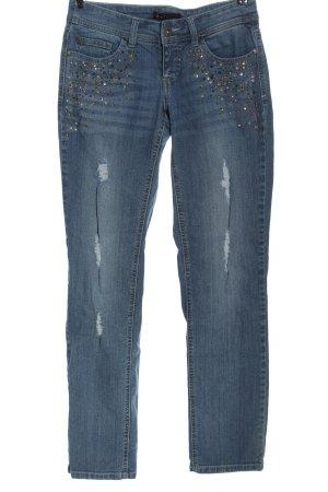 Melrose Jeansy z prostymi nogawkami niebieski W stylu casual