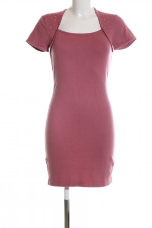Melrose Knitted Dress pink casual look