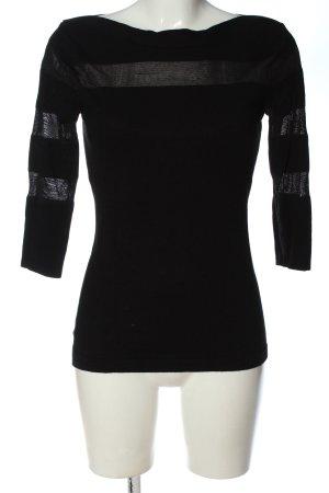 Melrose Maglione lavorato a maglia nero stile casual