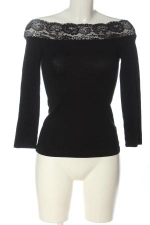 Melrose Camisa tejida negro look casual