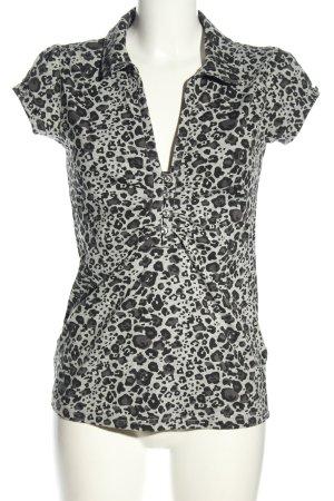 Melrose T-Shirt hellgrau-schwarz Animalmuster Elegant