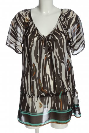 Melrose Transparent Blouse abstract pattern classic style