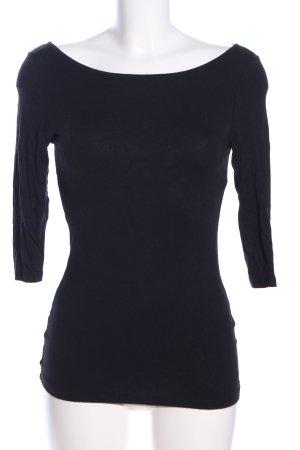Melrose U-Boot-Shirt schwarz Elegant
