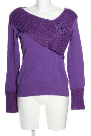 Melrose V-Ausschnitt-Pullover lila Casual-Look