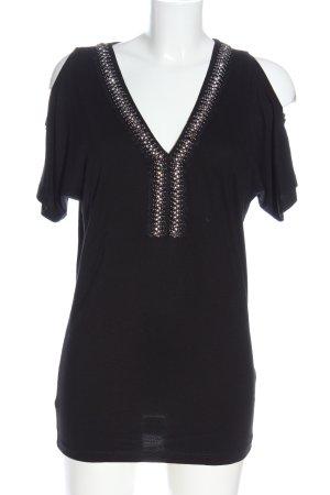 Melrose V-Neck Shirt black casual look