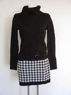 Melrose Vestito di lana bianco-nero Acrilico