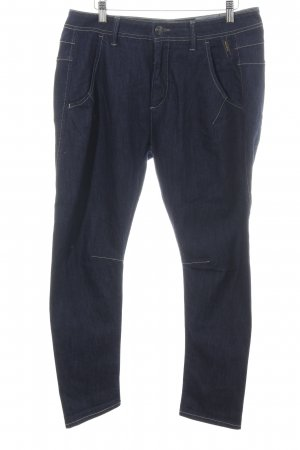 Meltin Pot 7/8-jeans blauw-wit casual uitstraling