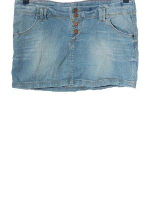 Meltin Pot Jupe en jeans bleu style décontracté