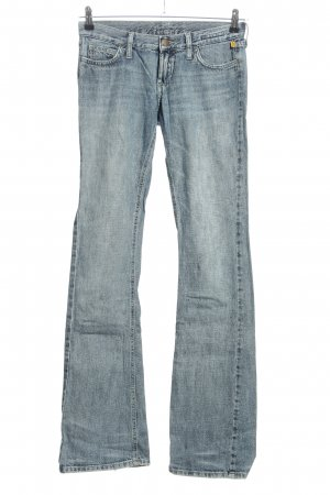 Meltin Pot Jeansschlaghose blau meliert Casual-Look