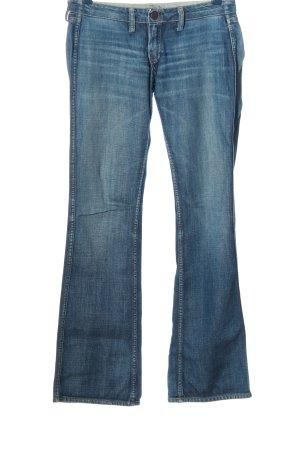 Meltin Pot Jeansschlaghose blau Casual-Look