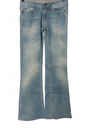 Meltin Pot Jeans flare bleu style décontracté