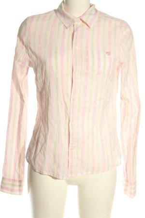 Meltin Pot Chemise à manches longues blanc cassé-rose motif rayé