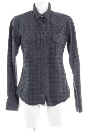Meltin Pot Camicia a maniche lunghe nero-grigio scuro motivo a quadri
