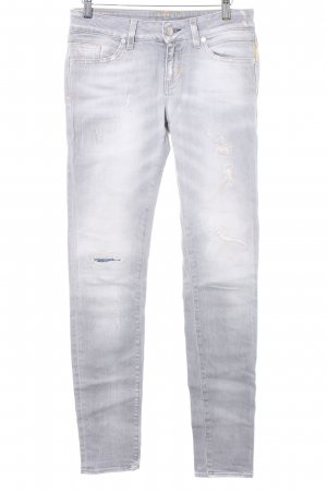 Meltin Pot Skinny Jeans hellgrau-dunkelgelb Casual-Look