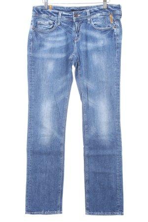 Meltin Pot Slim Jeans blau Used-Optik