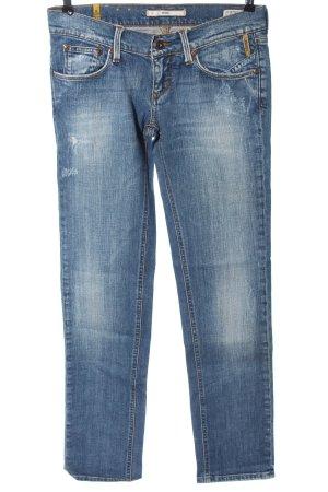 Meltin Pot Jeansy z prostymi nogawkami niebieski W stylu casual
