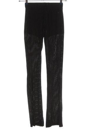 Melting Stockholm Pantalon pattes d'éléphant noir tissu mixte