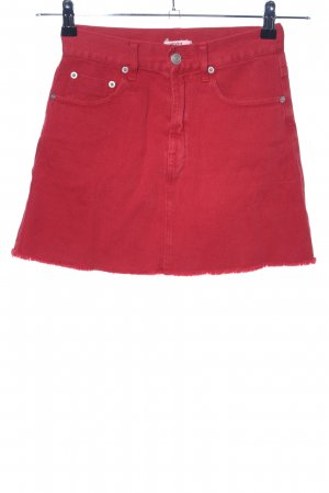 Brandy & Melville Jeansrock rot Casual-Look