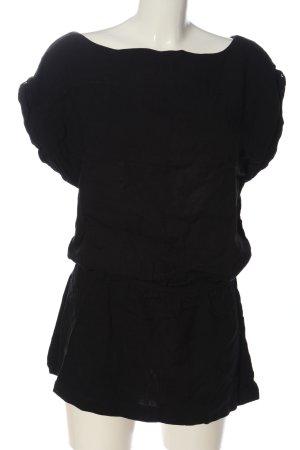melville Kurzarm-Bluse schwarz Casual-Look