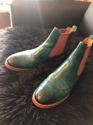 Melvil & Hamilton Chelsea Boots pink-turquoise
