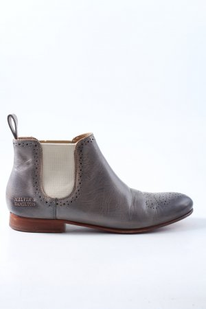 Melvin & hamilton Wingtip Shoes light grey casual look
