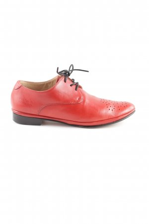 Melvin & hamilton Wingtip Shoes red casual look