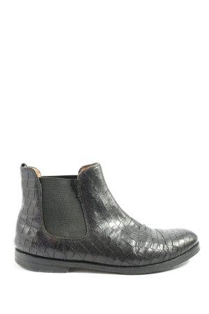 Melvin & hamilton Chelsea Boots schwarz Animalmuster Casual-Look