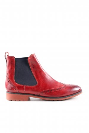 Melvin & hamilton Chelsea Boots red casual look