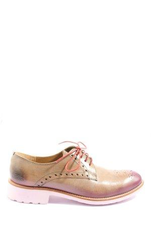 Melvin & hamilton Scarpa Derby rosa stile casual