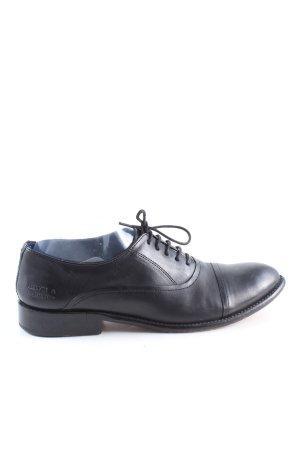 Melvin & hamilton Sznurowane buty czarny W stylu biznesowym