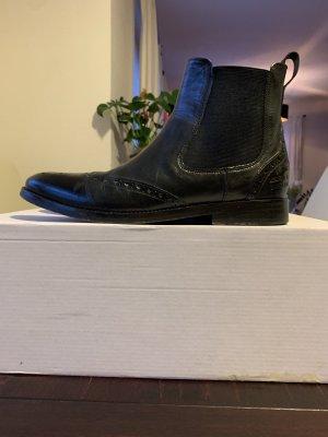 Melvin & hamilton Korte laarzen zwart Leer