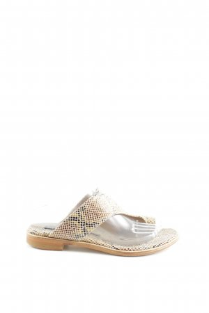 Melvin & hamilton Beach Sandals natural white-brown allover print casual look