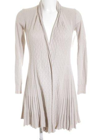 Memory & Co Lange Jacke beige Zopfmuster Casual-Look