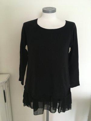Memory & Co. Pullover Shirt schwarz Volant 36 S 38 M