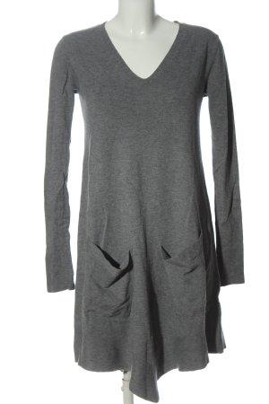 Memory & Co Swetrowa sukienka jasnoszary Melanżowy W stylu casual